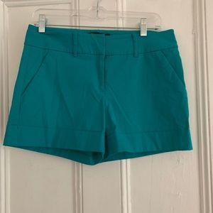 NY&C Teal cuffed shorts